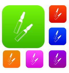 iodine sticks set color collection vector image