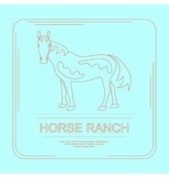 Logotype of horse ranch vector