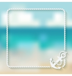 nautical card template with anchor vector image