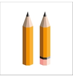 Pencils with eraser on a white background vector