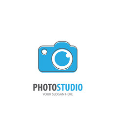 photo studio logo for business company simple vector image