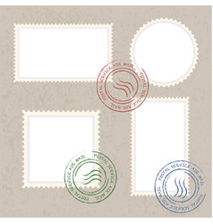Postage stamps template blank vector