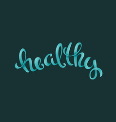 poster with handdrawn healthy vegan related vector image