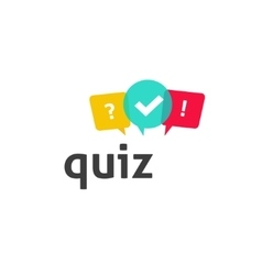Quiz logo poll questionnaire icon with vector image