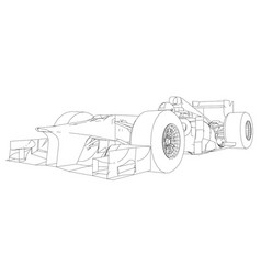 race car wire-frame eps10 format created vector image