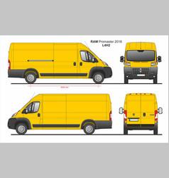 Ram promaster cargo delivery van l4h2 2018 vector