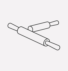 rolling pin icon line element vector image