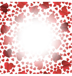 romantic red heart seamless pattern vector image