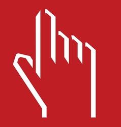 ruka svedena5 vector image