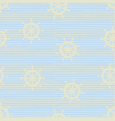 Seamless pattern with steering wheels vector