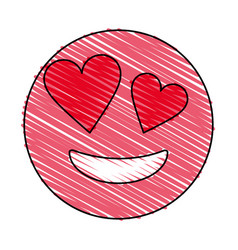 smiling heart eyes emoji icon image vector image