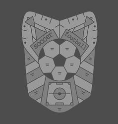 Soccer emblem monochromeVS vector