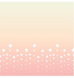 Star dot line bottom abstract orange background vector