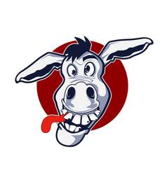 Stupid donkey cartoon vector