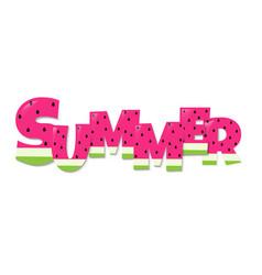 Summer watermelon text vector