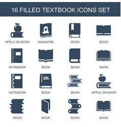 textbook icons vector image