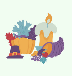 thanksgiving symbols autumn forest icon vector image
