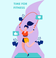 time for fitness gym flyer brochure template vector image