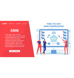 Time to get new knowledge about smm banner vector