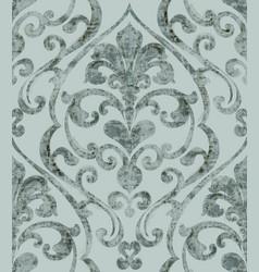Vintage baroque ornamented background watercolor vector
