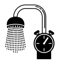 water save bathroom icon simple style vector image