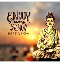 with buddha vector image