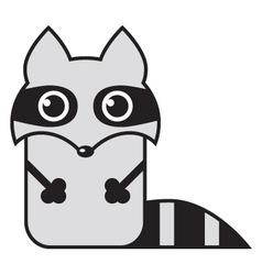 cartoon raccoon vector image