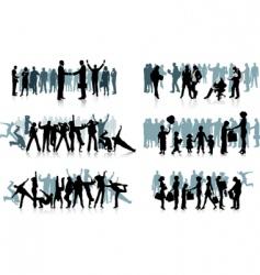 huge crowd vector image vector image