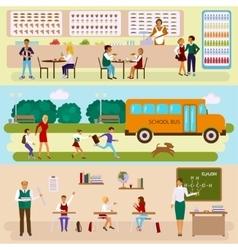 Set Isolated of school vector image