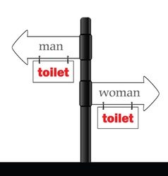 sign and guideline for toilet part two vector image vector image