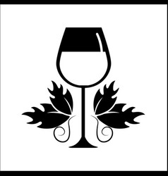 glass of wine icon stock vector image vector image