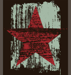 grunge star retro texture abstract background vector image