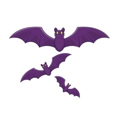 Halloween bats icon cartoon style vector image vector image