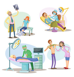 medical examination and treatment vector image