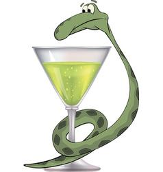 Snake and a bowl bowl of hygieia medical cartoon vector