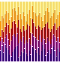 chart stripes vector image vector image