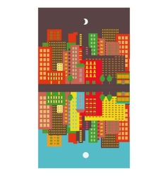 Cityscape day and night vector image