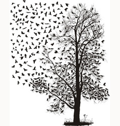 Crows in a tree vector image vector image