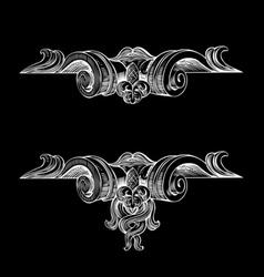 Decorative Vintage Ornate Banner vector image vector image