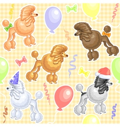 funny dogs poodles vector image