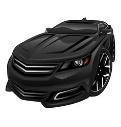 new car sedan cartoon vector image vector image