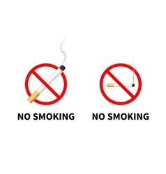 No smoking forbidden signs with realistic vector image vector image