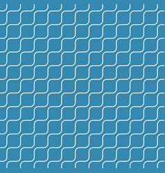 seamless geometric pattern oblique wave on blue vector image vector image