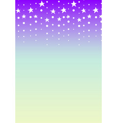 star falling abstract purple green background vector image