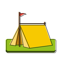 tent camping icon image vector image