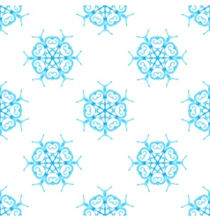 Watercolour snowflakes on white background vector image