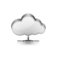 Cloud network connection vector image vector image