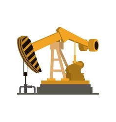 Oil pump icon Oil industry concept vector image