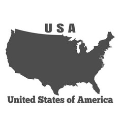 united states of america usa - high detailed map vector image