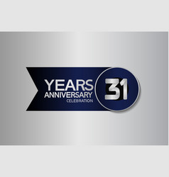 31 years anniversary logo style with circle vector